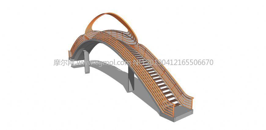 造型拱桥su模型