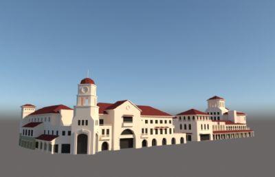 酒店,休闲广场商业建筑