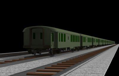 火车,铁轨场景max模型