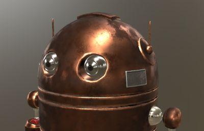 可爱萌机器人max模型,带贴图