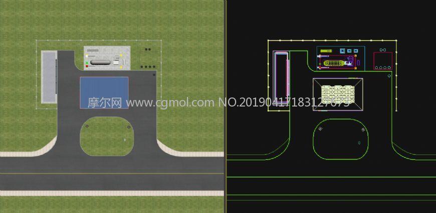 中国海油加油站,LNG加气站模型