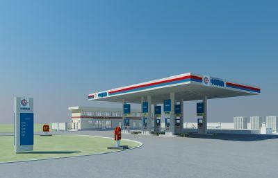 中��海油加油站,LNG加�庹灸P�