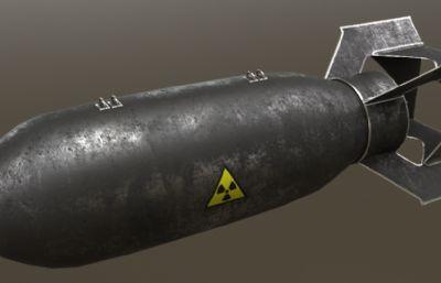 航空炸弹,导弹max模型,有贴图