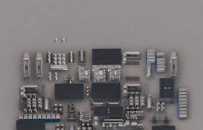 化工厂工业设备max模型