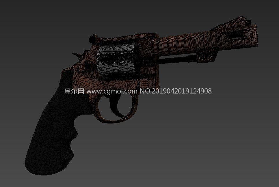 Q版轉輪手槍,左輪手槍max模型