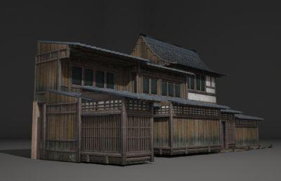 古代房子,民宅3D模型(网盘下载)