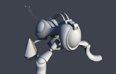 类蚂蚁,类昆虫机器兵maya模型