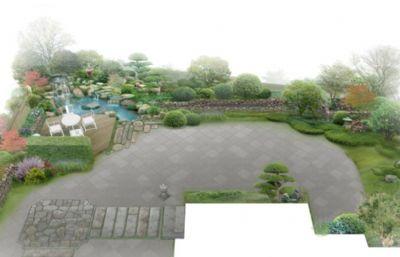 中式日式混搭庭院别墅skp,dwg格式施工图