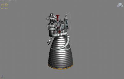 火箭发动机推进器max模型