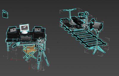 拍摄用轨道椅,调音器,麦克风,场?#21069;?#31561;摄影器材