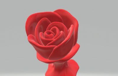 玫瑰花OBJ格式模型