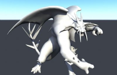 怪物?#36136;?#39134;龙maya模型