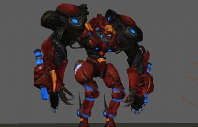 游�蚶锏乃{光�C器人怪物