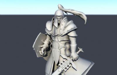 步兵,骑士,战士maya精模
