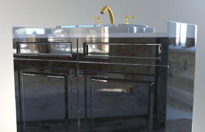 洗手池,洗手台厨卫系列max模型