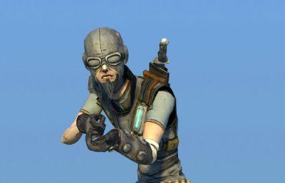 特�N�鹗�,��手,武士maya模型,��完整�N�D