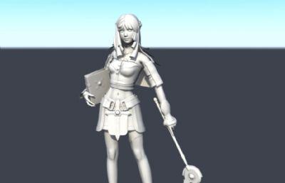 游戏里的法师,治愈师精模maya模型