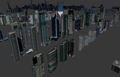 數字城市模型,城市配樓簡模
