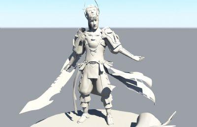 �D仙鬼王宗圣使青��maya模型