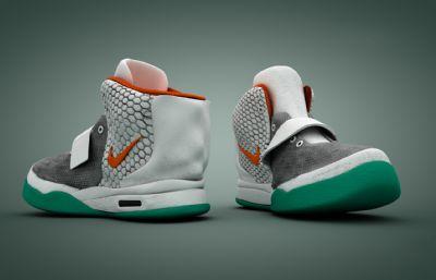 nike篮球鞋,运动鞋C4D模型