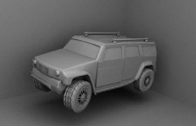 一辆suv越野车maya2018模型