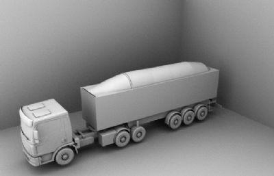 卡车,罐车,运输车maya2018模型