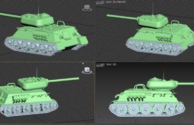坦克,有點卡通風格的小坦克max模型