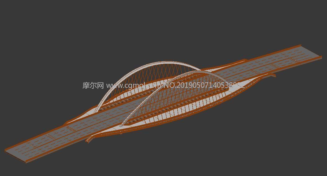 天津大沽桥max模型