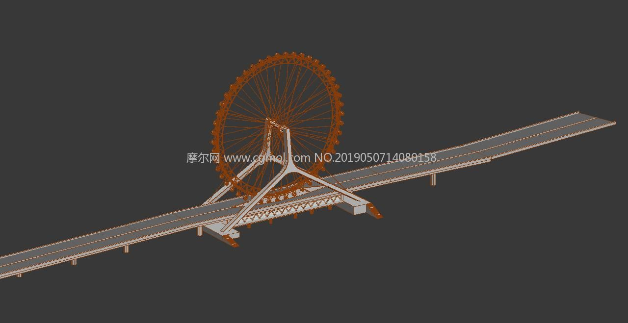天津之眼,天津永乐桥摩天轮max模型
