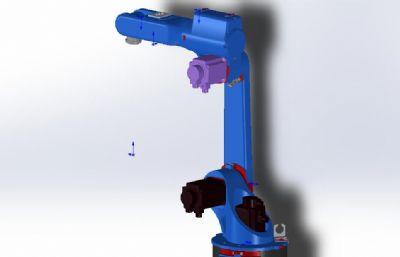 六轴工业机器人STEP格式模型