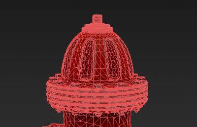 消防栓max精�模型,有�N�D