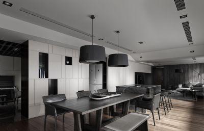 灰色�{��敞客餐�dmax模型