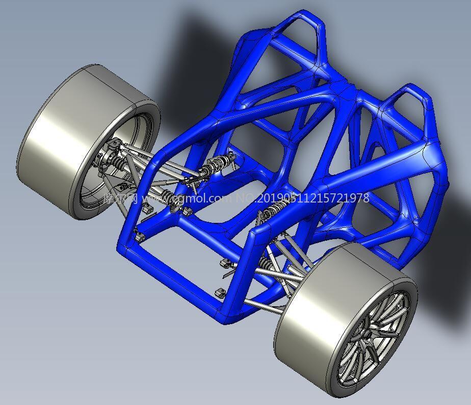 保时捷918后轮结构STP格式