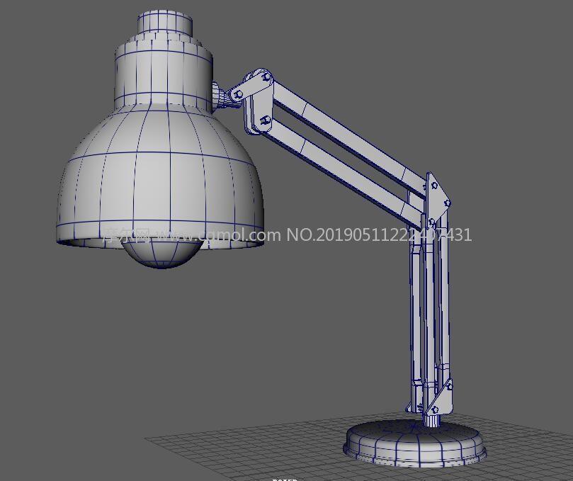 maya个性小台灯模型