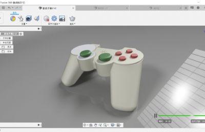 游戲手柄STP格式模型