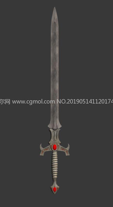 宝剑,游戏道具简模
