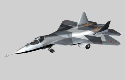 俄罗斯T50战斗机模型,max,c4d,fbx三种格式
