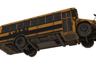 带绑定的school bus学生校?#30340;?#22411;,有内部场景,FBX,MAX,C4D格式