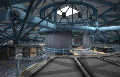 未来圆形科技基地军事设施,贴图全(网盘下载)
