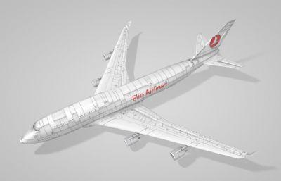 波音747客�C�w�CC4D模型