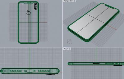IPHONE XS MAX模型-犀牛建模