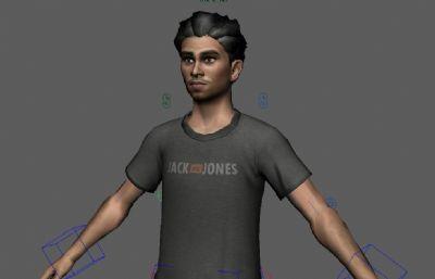 �Ш��谓�定的�F代青年,大叔maya模型