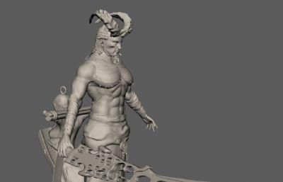 地狱守护者,地牢监管使者maya模型