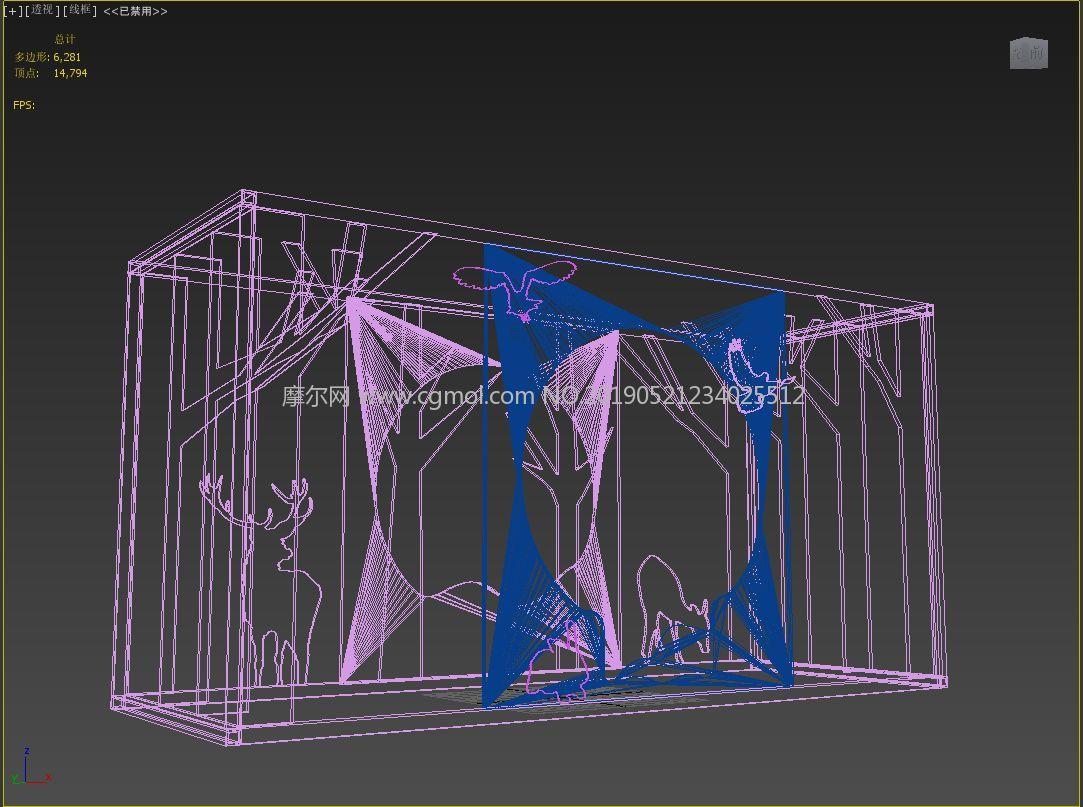 �淮�,展示立柜,合影�^,�淠旧�林美�max模型