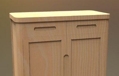 整理柜,矮柜鞋柜max模型