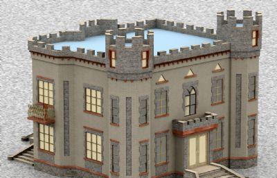 城堡建筑风格的房子max模型
