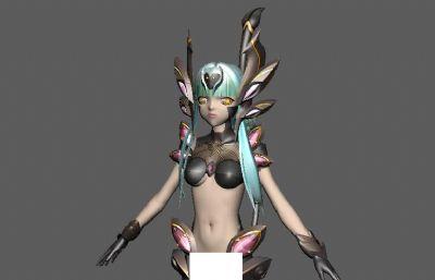 �L色幻想焦糖maya模型