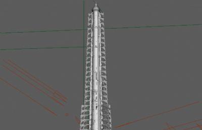 魔法塔Maya模型