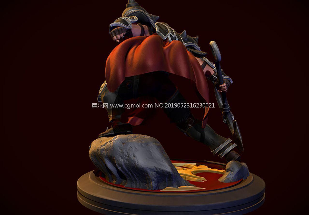 英雄�盟�Z克�_斯之手zbrush精雕模型,ZPR格式