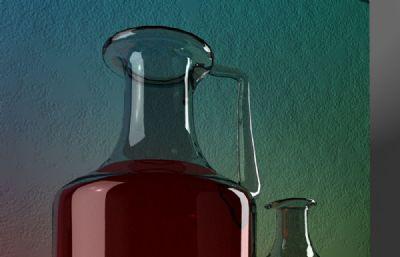 玻璃瓶�料橙子�o物maya模型